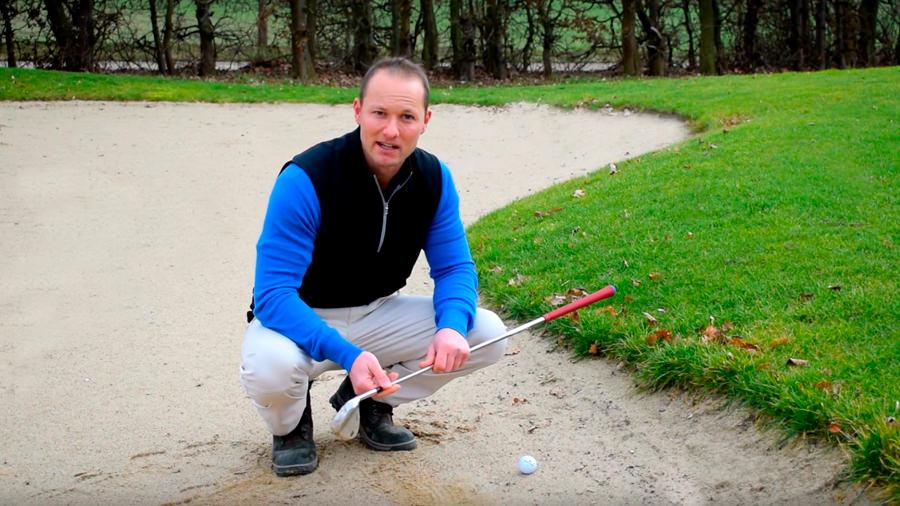 Golfregeln Ball im Bunker - Silas Wagner Golf 180