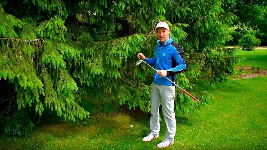 Golfregeln - Raum des beabsichtigten Schwunges, Lage, Spiellinie - Ball anfassen - Silas Wagner Golf180