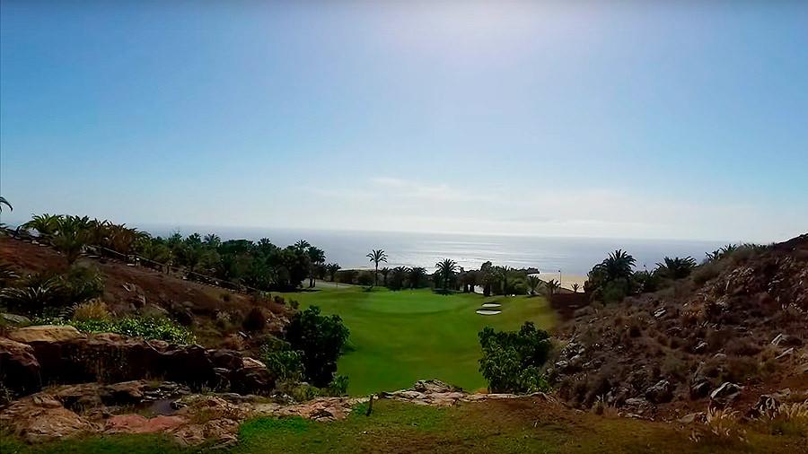 Golfreise Teneriffa Golfplatz Abama - Abschlag mit Meerblick
