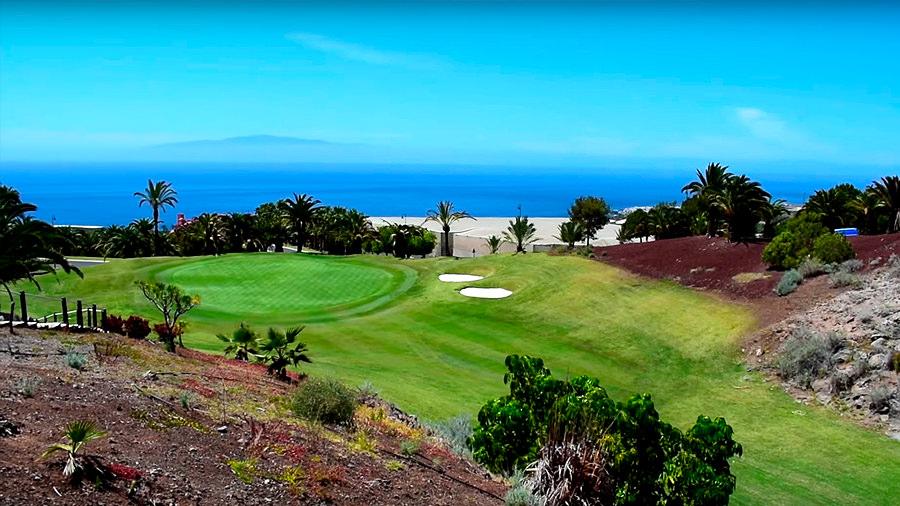 Golfreise Teneriffa Golfplatz Abama - Blick auf das Grün